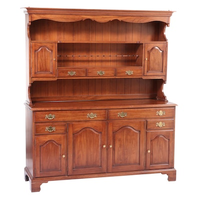 Henkel-Harris Virginia Galleries Chippendale Style Cherrywood Stepback Cupboard