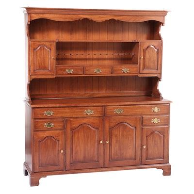 Henkel-Harris Virginia Galleries Chippendale Style Cherrywood Stepback Cupboard