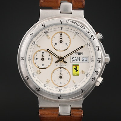 Ferrari Formula by Cartier Chronograph Stainless Steel Automatic Wristwatch