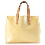 Louis Vuitton Reade PM in Perle Monogram Vernis and Vachetta Leather