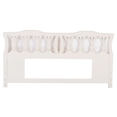 Painted Wooden King Sized Headboard, Late 20th Century