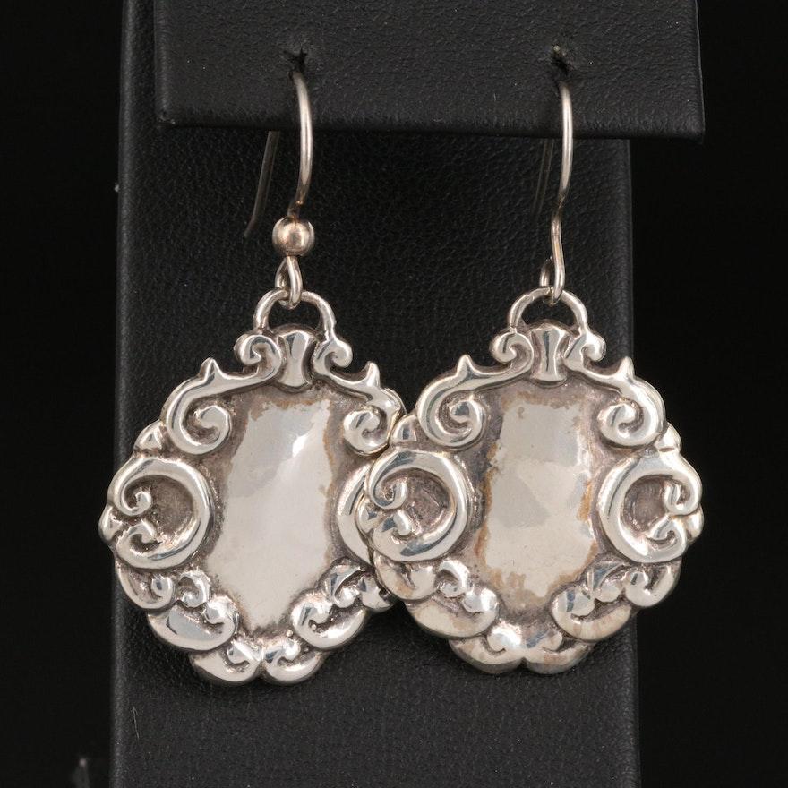 Sterling Scrollwork Earrings