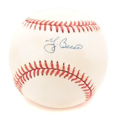 Yogi Berra Signed Rawlings American League Baseball
