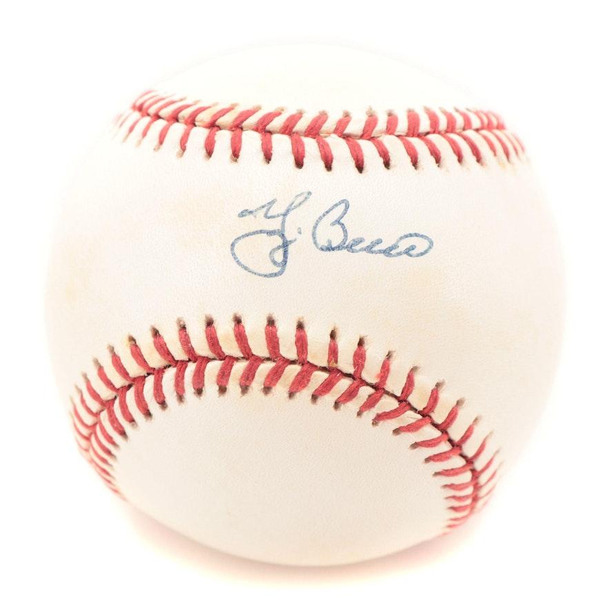 Yogi Berra Signed Rawlings American League Baseball