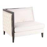 Lily Jack Contemporary Modern Button Tufted Upholstered Corner Chair