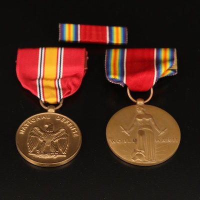 Two Vintage Military Service Medals