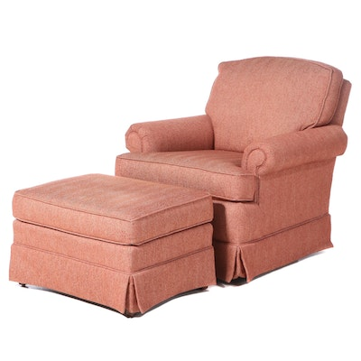 "C.R. Laine Furniture ""Carolina Collection"" Upholstered Swivel-Rocker and Ottoman"