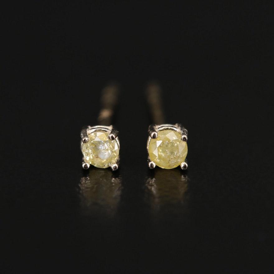 14K 0.11 CTW Diamond Stud Earrings