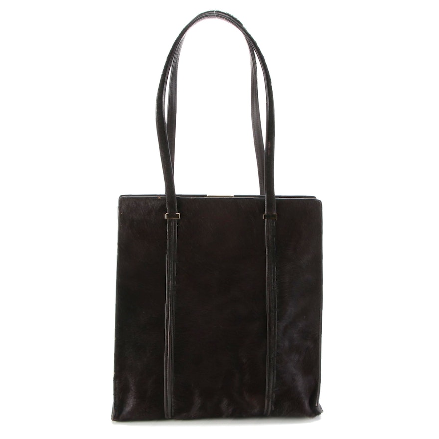 Gucci Pony Hair and Leather Shopper Tote