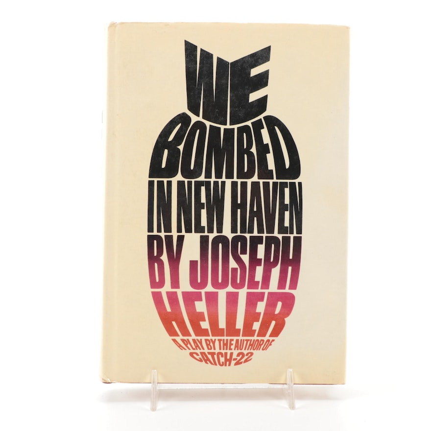 """Signed First Printing """"We Bombed in New Haven"""" by Joseph Heller, 1968"""