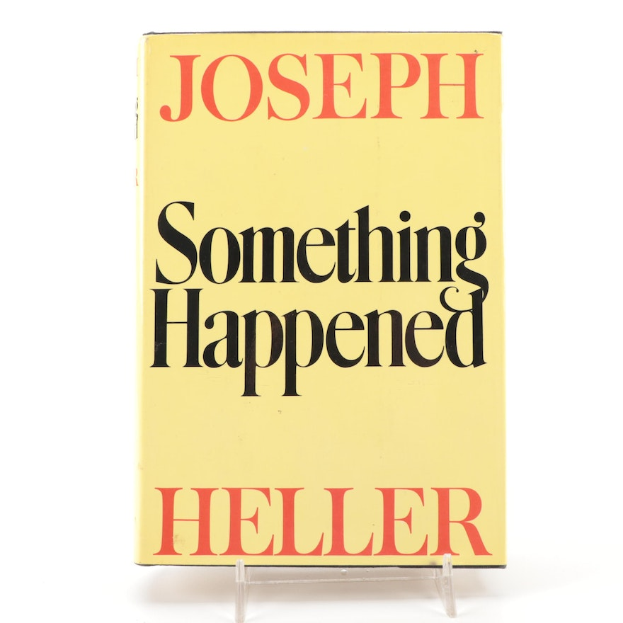 """Signed First Edition """"Something Happened"""" by Joseph Heller, 1974"""