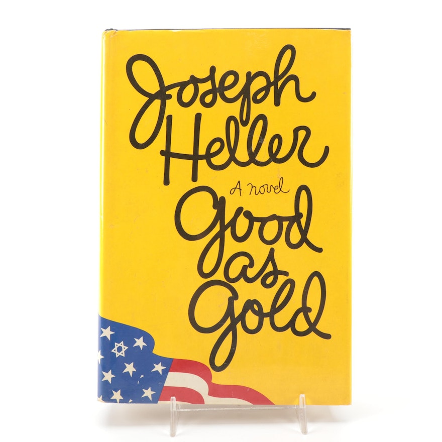 """Signed First Trade Edition """"Good as Gold"""" by Joseph Heller, 1979"""