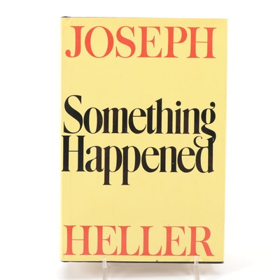 "Signed Third Printing ""Something Happened"" by Joseph Heller, 1974"