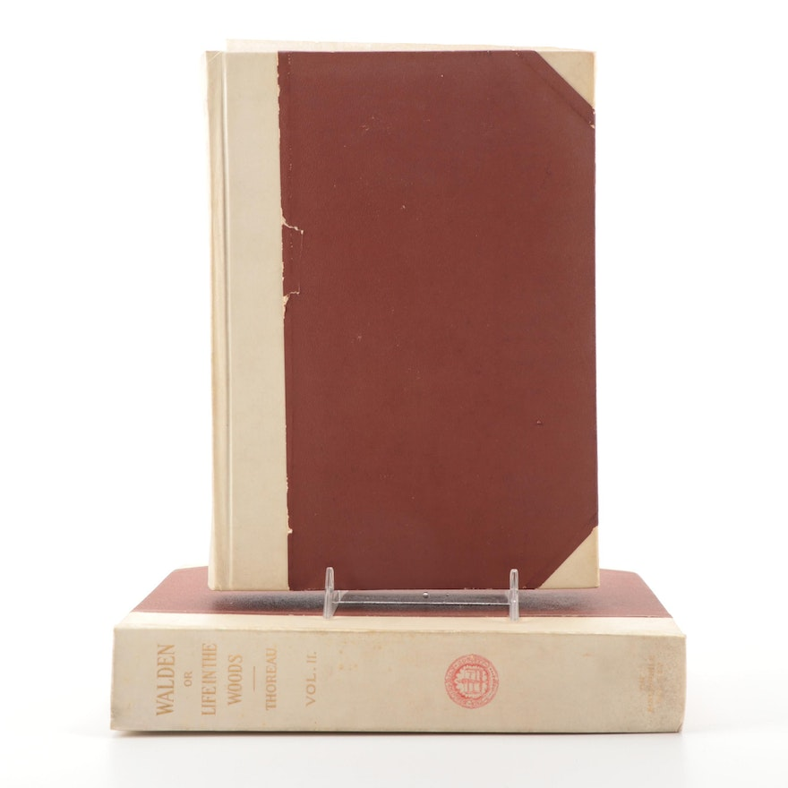 """Limited Edition """"Walden"""" Two-Volume Set by Henry David Thoreau, 1909"""