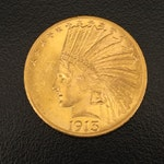 1913 Indian Head $10 Eagle Gold Coin