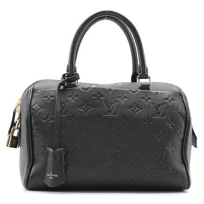 Louis Vuitton Speedy Bandouliere 25 in Black Monogram Empreinte Leather