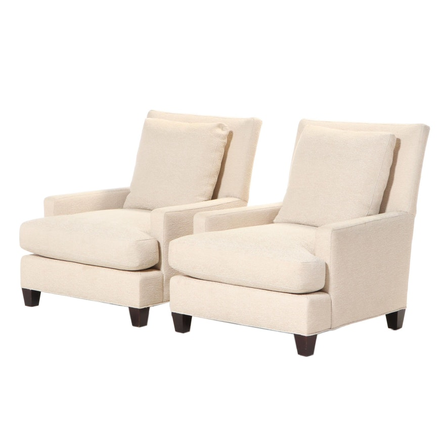 Pair of Baker Furniture Upholstered Club Chairs