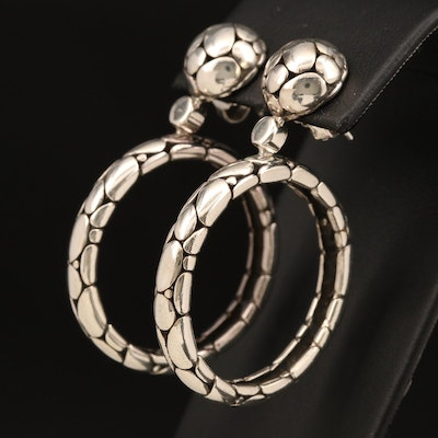 "John Hardy ""Kali"" Sterling Hoop Earrings"