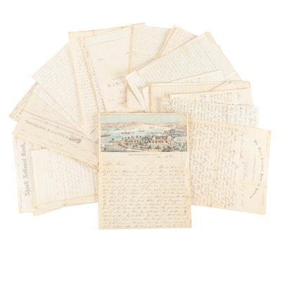Civil War Era Soldier's Letters and Other Papers, Mid/Late 19th Century