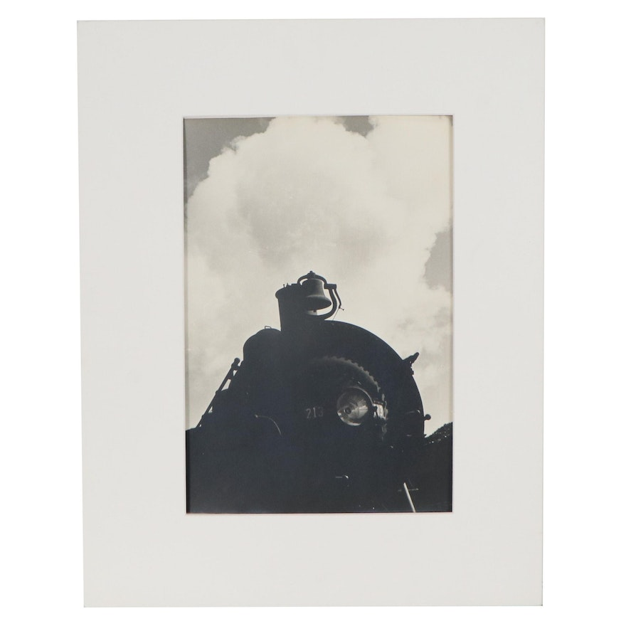 Silver Gelatin Photograph Train, Mid to Late 20th Century
