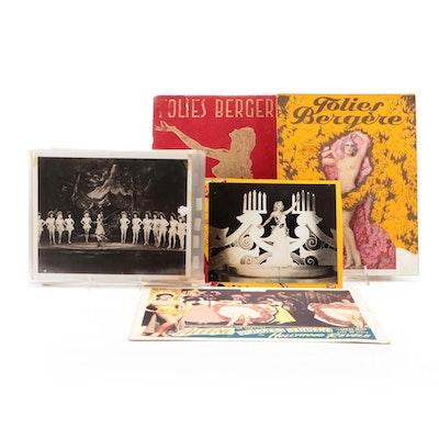Folies Bergere Cabaret Programs, Burlesque Publicity Stills, and Lobby Card