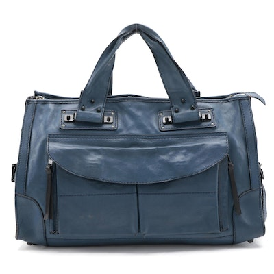 Chloé Tracey Satchel in Blue Leather
