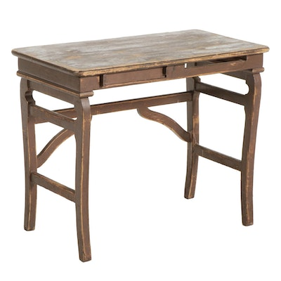 Painted Wood Student's Desk, Early to Mid 20th Century