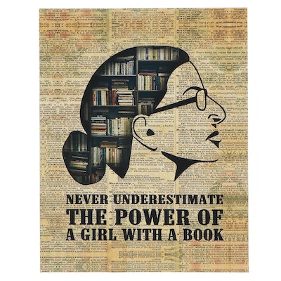 "Ruth Bader Ginsburg Giclée ""Never Underestimate The Power of A Girl With a Book"""