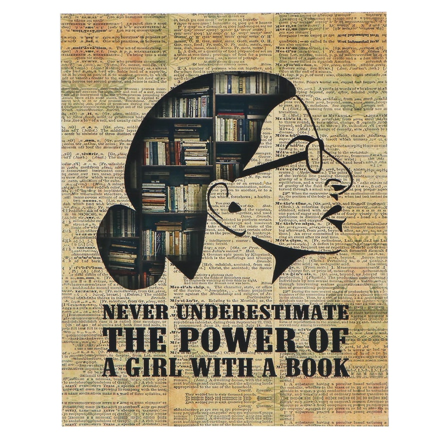 """Ruth Bader Ginsburg Giclée """"Never Underestimate The Power of A Girl With a Book"""""""