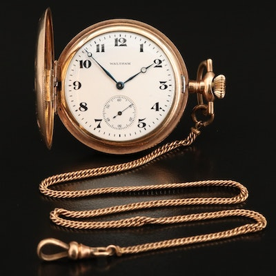 1917 Waltham Hunting Case Pocket Watch