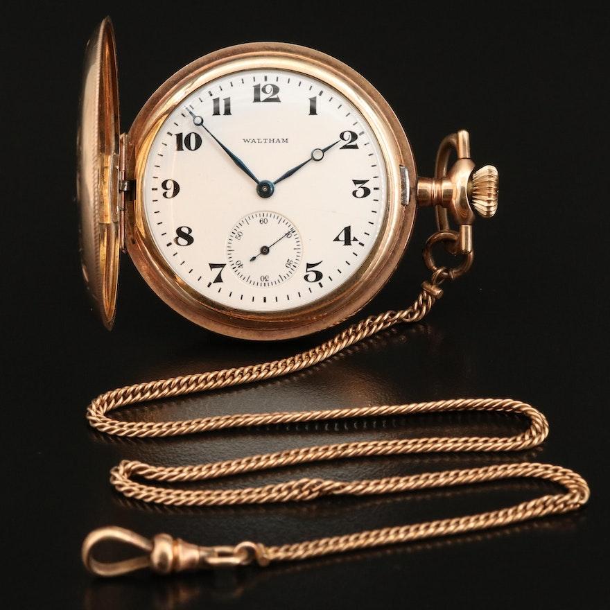 1917 Waltham Hunting Case Pocket Watch