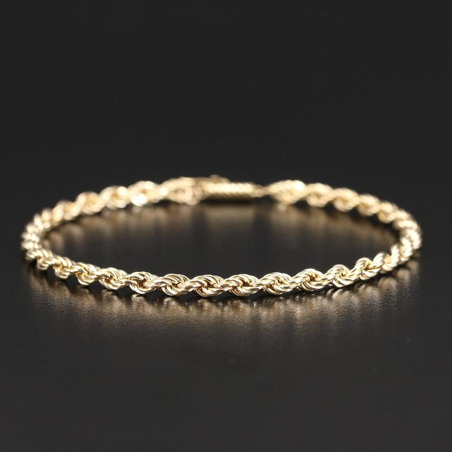 14K Rope Link Bracelet