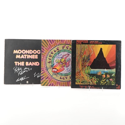The Band, Little Feat and Other Autographed Vinyl Records with COAs and Photos