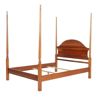 Lexington Furniture Cherry Queen Size Pencil Post Bed