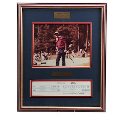 "Arnold Palmer ""Masters Champion 1958, 1960, 1962, 1964"" Signed Display"