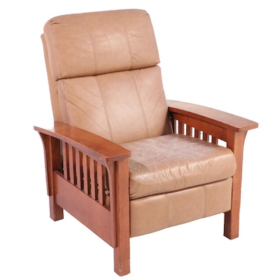 Lane Mission Style Oak Reclining Arm Chair, Mid to Late 20th Century