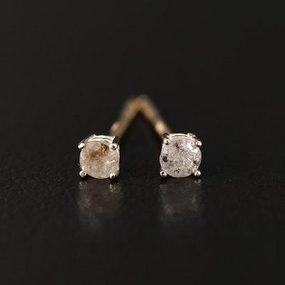 14K 0.18 CTW Diamond Stud Earrings