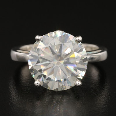 Sterling Moissanite Solitaire Ring