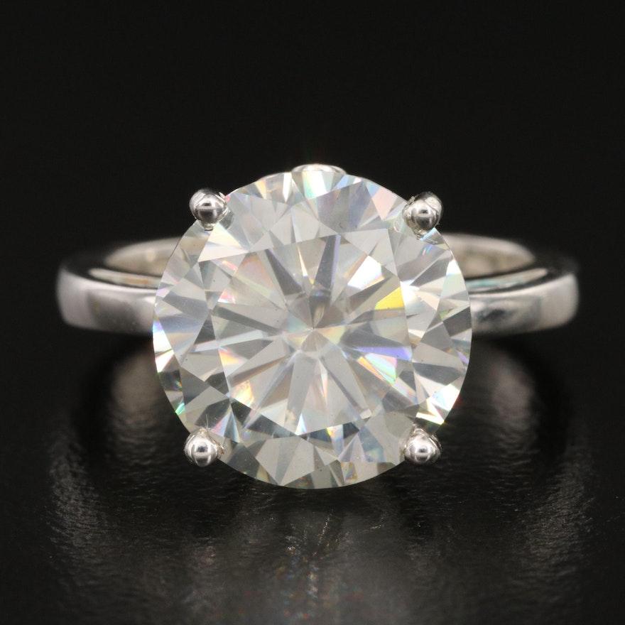 Sterling Moissanite Solitaire Ring
