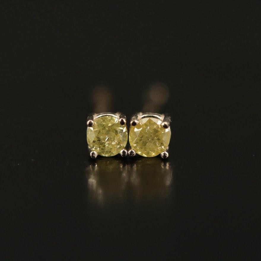 14K 0.13 CTW Diamond Stud Earrings
