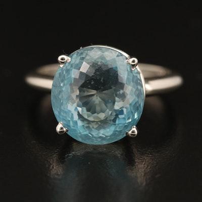 14K 8.36 CT Aquamarine Ring