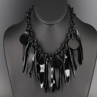 1984 Artisan Bill Schiffer Fringe Necklace