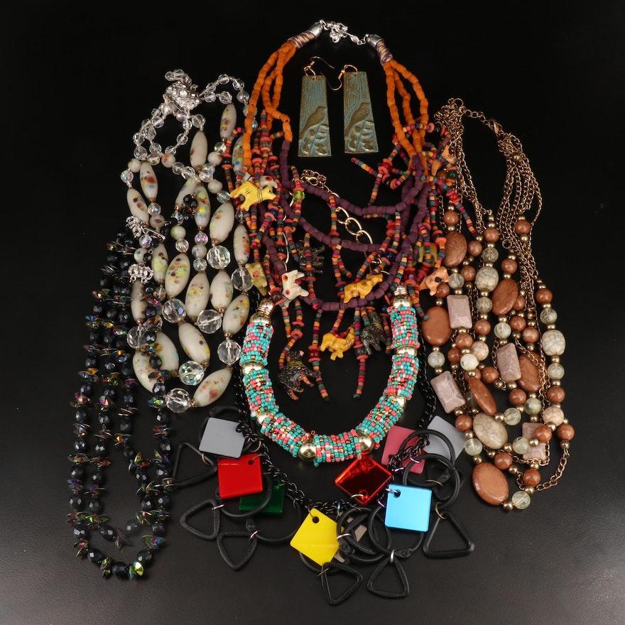 Hobé and Vintage Rhinestone and Beaded Jewelry