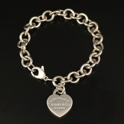 "Tiffany & Co. ""Return to Tiffany"" Sterling Heart Tag Bracelet"