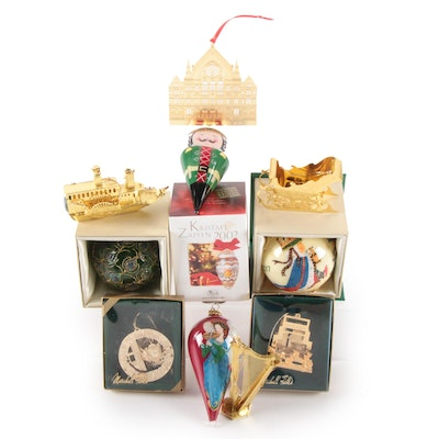German Glass Christmas Ornament with Others