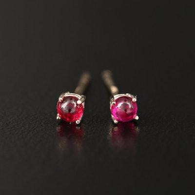 14K Ruby Stud Earrings