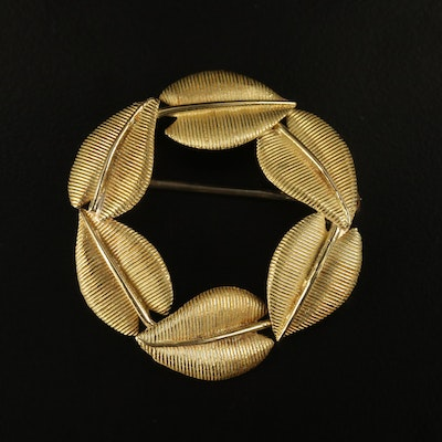 Vintage Tiffany & Co. 18K Leaf Wreath Brooch