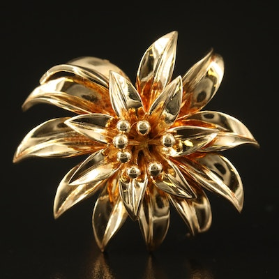 Vintage Tiffany & Co. 18K Flower Brooch