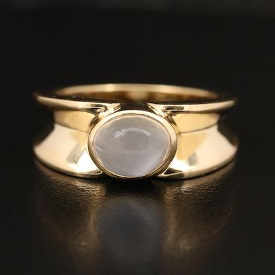 18K Moonstone Ring