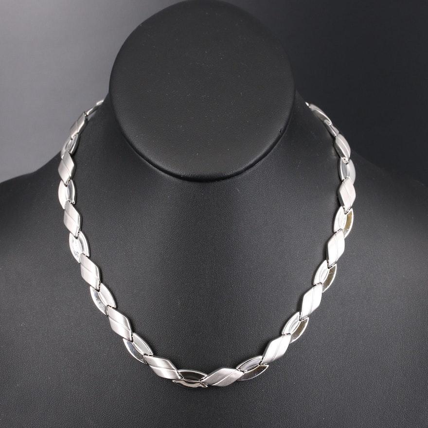 14K Italian Gold Fancy Link Necklace